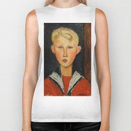 "Amedeo Modigliani ""The Blue-eyed Boy"" Biker Tank"