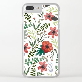 Flower pattern Clear iPhone Case