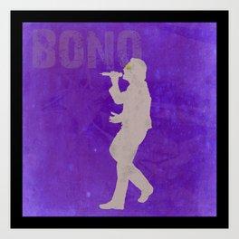 Bono - Rock Wall 3 of 16 Art Print