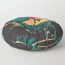 Dinosaur at night Floor Pillow