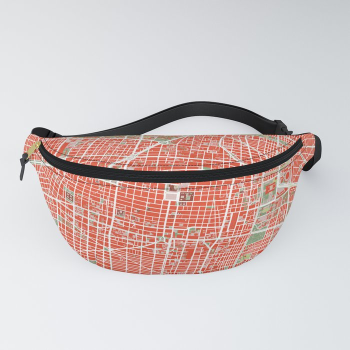 Mexico city map classic Fanny Pack