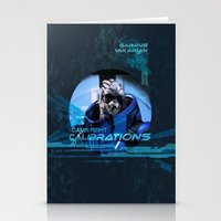 garrus Stationery Cards featuring Garrus Vakarian with shades by TheEmbraced
