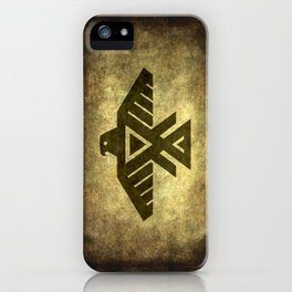 Symbol of the Anishinaabe, Ojibwe (Chippewa) on  parchment iPhone Case