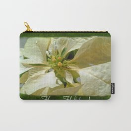 Pale Yellow Poinsettia 1 Happy Holidays P1F1 Carry-All Pouch