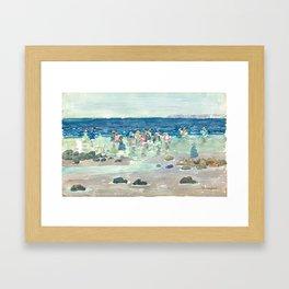 Low Tide by Maurice Prendergast - Belle Époque Watercolor Painting Framed Art Print