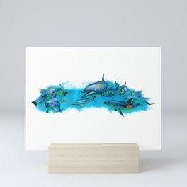 Dolphin Pod Mini Art Print