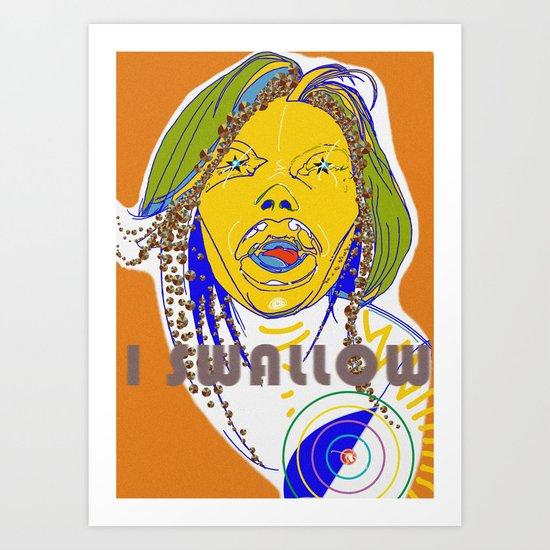 I swallow  Art Print