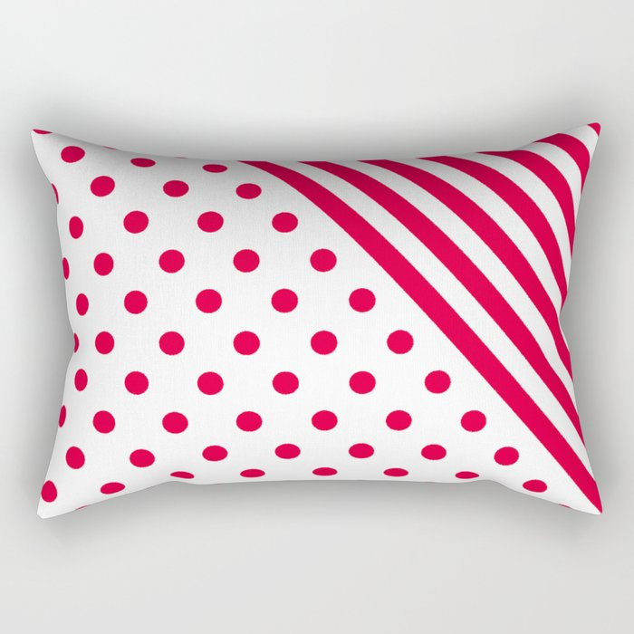RED DOTS and LINES - CHRISTMAS Rectangular Pillow