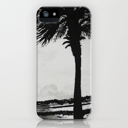 Palm Tree on the Marsh iPhone Case