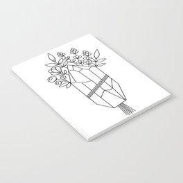 Crystal Flower Bouquet Notebook