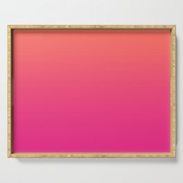 Coral Bright Pink Ombre Gradient Pattern Orange Peachy Soft Trendy Texture Serving Tray