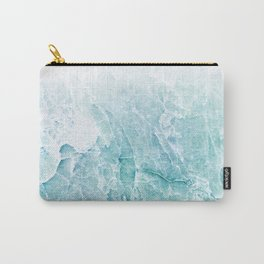 Sea Dream Marble - Aqua and blues Carry-All Pouch