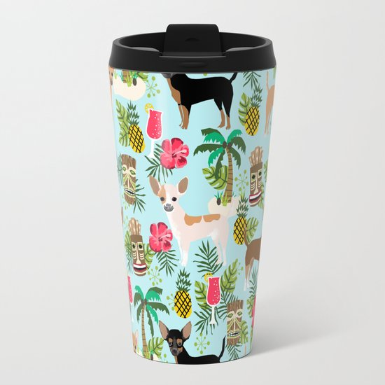Chihuahua Tiki Design Summer Tropical Dog Design Travel