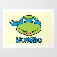 leonardo Art Prints featuring Leonardo by husavendaczek
