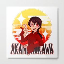 Akane Circle Graphic Metal Print