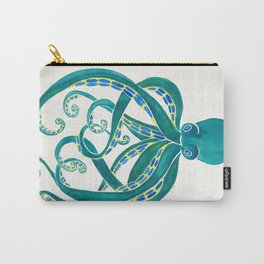 Octopus Watercolor Carry-All Pouch