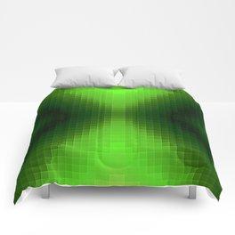 Green PixelS Comforters