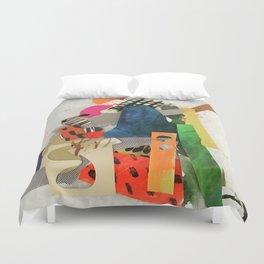 Sunset Mountain Paper Pile Duvet Cover