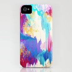 SWEET DREAMS - Lovely Bright Soft Pastel Modern Abstract Fun Nursery Ombre Design Acrylic Painting Slim Case iPhone (4, 4s)