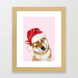 Christmas Shiba Inu Framed Art Print