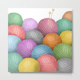So Much Yarn Metal Print