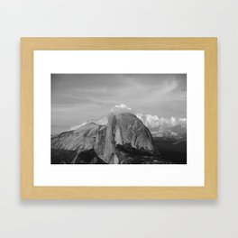 Half Dome in Black and White Framed Art Print