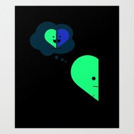 Half Heart - Memories Art Print