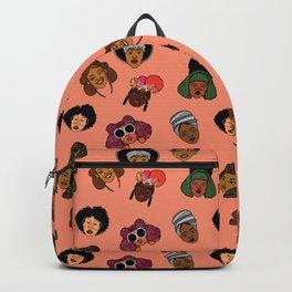 Black Hair Magic (Coral) Backpack