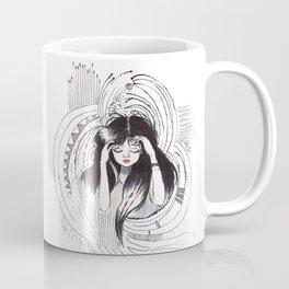 Noise. Whimsical drawing of a girl. Coffee Mug