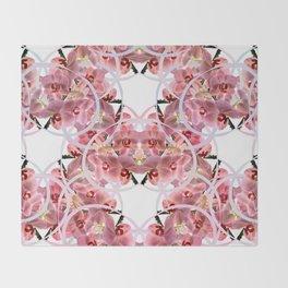 Ochids paterns Throw Blanket