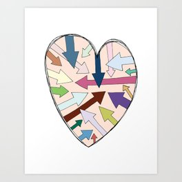 Which Way To Your Heart? Art Print
