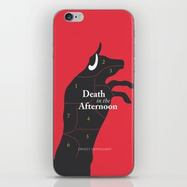 Ernest Hemingway book cover & Poster, Death in the Afternoon, bullfighting stories iPhone Skin