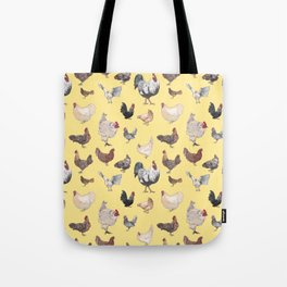 Chicken Happy (yellow) Tote Bag