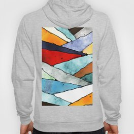 Angles of Textured Colors Hoody