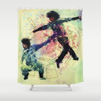 gravity Shower Curtains featuring Gravity by hbCreative