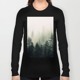 Foggy Pine Trees Long Sleeve T-shirt