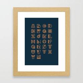 Alphabet 2 Framed Art Print