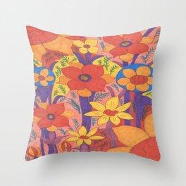 Sunshine and Wildflowers Throw Pillow