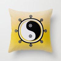 yin yang Throw Pillows featuring Yin yang by Nir P