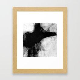Black and White Minimalist Landscape Framed Art Print