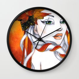 October Wall Clock