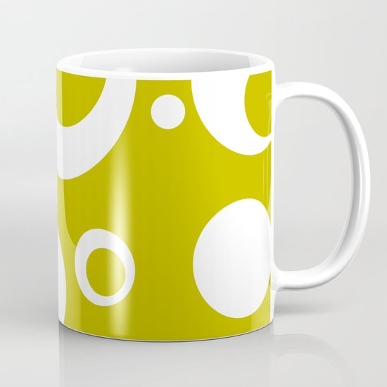 Circles Dots Bubbles :: Citron Mug