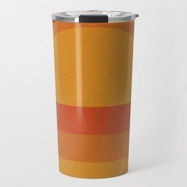 Retro Geometric Sunset Travel Mug