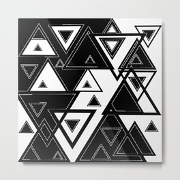Triangle black and white Metal Print