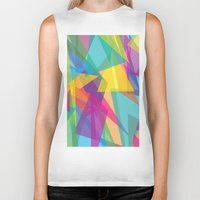 transparent Biker Tanks featuring Transparent Triangles by AleyshaKate