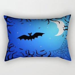 Bats in the dark forest for Halloween Rectangular Pillow