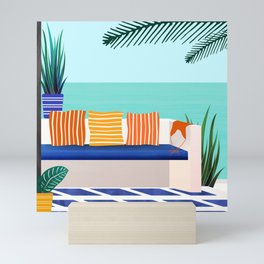 Tropical Villa On The Sea Mini Art Print