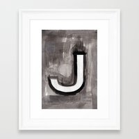 alt j Framed Art Prints featuring - J - by Resistenza