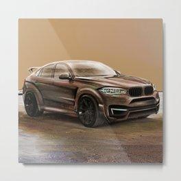 Martian X6 SUV Artrace edition Metal Print