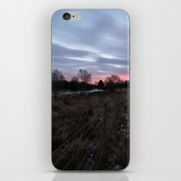 Winter Sunrise Over Chasewater iPhone Skin